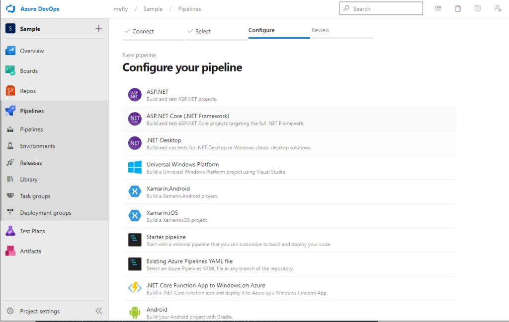 Azure DevOps Pipeline Configure