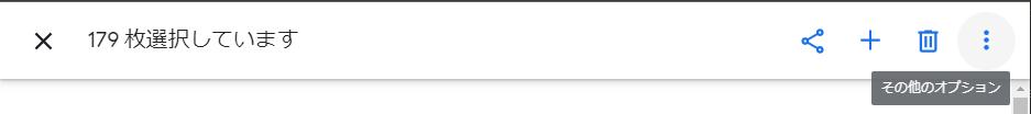 Googleフォト その他のオプション