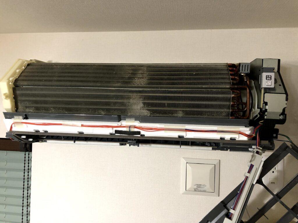 三菱電機ルームエアコン MSZ-JXV224-W ムーブアイとお掃除ロボットを外す