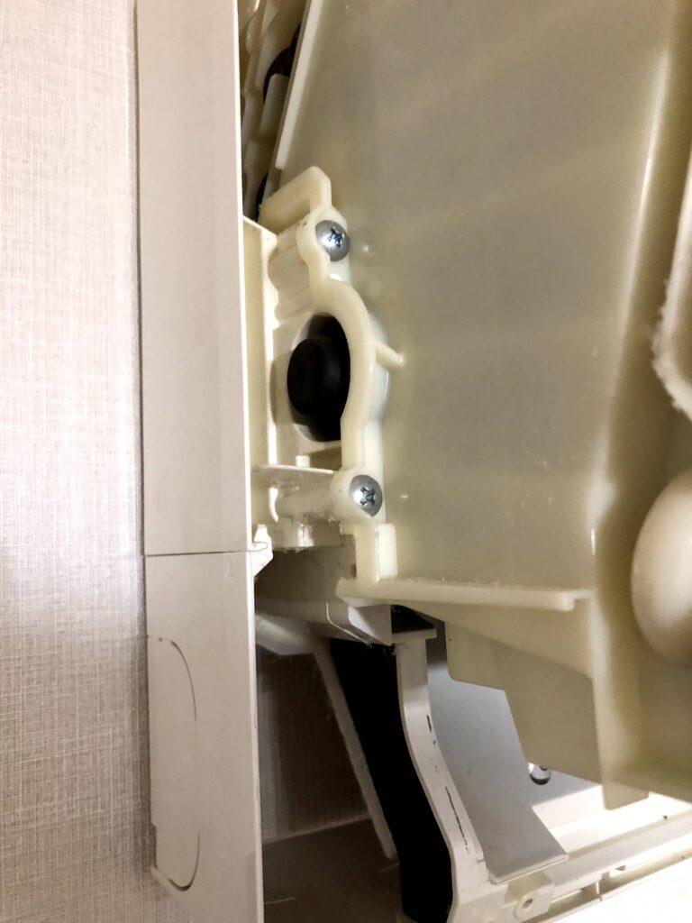 三菱電機ルームエアコン MSZ-JXV224-W 送風ファンのカバー