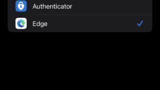 Microsoft EdgeをiPhoneのパスワード認証に利用する
