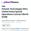 Palantir Technologies Wins United States Special Operations Contract Worth 1M